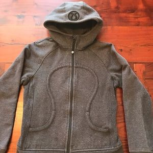 Sparkly grey lululemon scuba hoodie size 6